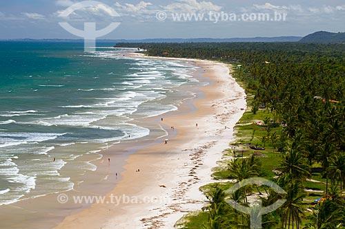 Vista da orla da Praia Pé de Serra  - Uruçuca - Bahia (BA) - Brasil