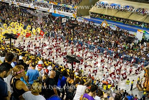 Desfile do Grêmio Recreativo Escola de Samba Unidos da Tijuca - Foliões - Enredo 2015 - Um conto marcado no tempo: o olhar suíço de Clóvis Bornay  - Rio de Janeiro - Rio de Janeiro (RJ) - Brasil
