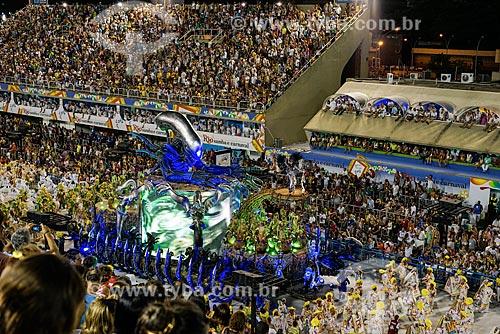 Desfile do Grêmio Recreativo Escola de Samba Unidos da Tijuca - Carro alegórico - Enredo 2015 - Um conto marcado no tempo: o olhar suíço de Clóvis Bornay  - Rio de Janeiro - Rio de Janeiro (RJ) - Brasil
