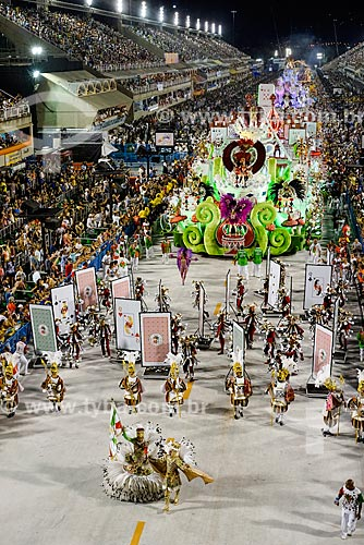 Desfile do Grêmio Recreativo Escola de Samba Acadêmicos do Grande Rio - Casal de Mestre-sala e Porta-Bandeira - Enredo 2015 - A Grande Rio é do baralho  - Rio de Janeiro - Rio de Janeiro (RJ) - Brasil