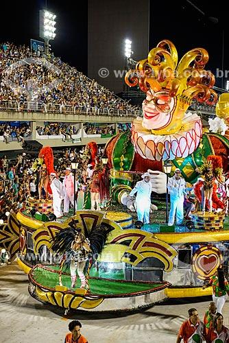 Desfile do Grêmio Recreativo Escola de Samba Acadêmicos do Grande Rio - Carro alegórico - Enredo 2015 - A Grande Rio é do baralho  - Rio de Janeiro - Rio de Janeiro (RJ) - Brasil