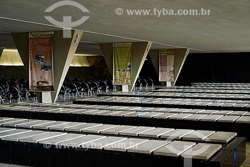 Interior do mausoléu do Monumento aos Mortos da Segunda Guerra Mundial - Monumento aos Pracinhas  - Rio de Janeiro - Rio de Janeiro (RJ) - Brasil