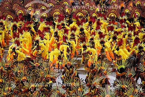 Desfile do Grêmio Recreativo Escola de Samba Paraíso do Tuiuti - Foliões - Enredo 2015 - Curumim chama Cunhantã que eu vou contar?  - Rio de Janeiro - Rio de Janeiro (RJ) - Brasil