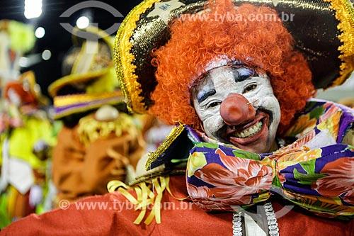 Desfile do Grêmio Recreativo Escola de Samba Unidos de Padre Miguel - Folião - Enredo 2015 - O Cavaleiro Armorial mandacariza o carnaval  - Rio de Janeiro - Rio de Janeiro (RJ) - Brasil