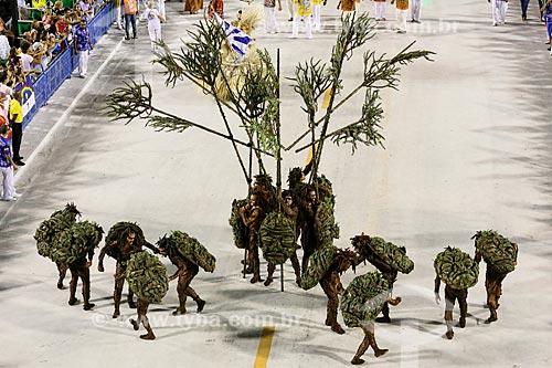 Desfile do Grêmio Recreativo Escola de Samba Beija-Flor de Nilópolis - Comissão de frente - Enredo 2015 - Um griô conta a história: Um olhar sobre a África e o despontar da Guiné Equatorial. Caminhemos sobre a trilha de nossa felicidade  - Rio de Janeiro - Rio de Janeiro (RJ) - Brasil