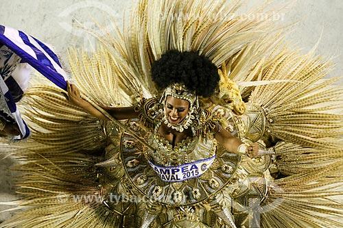Desfile do Grêmio Recreativo Escola de Samba Beija-Flor de Nilópolis - Porta-Bandeira - Enredo 2015 - Um griô conta a história: Um olhar sobre a África e o despontar da Guiné Equatorial. Caminhemos sobre a trilha de nossa felicidade  - Rio de Janeiro - Rio de Janeiro (RJ) - Brasil