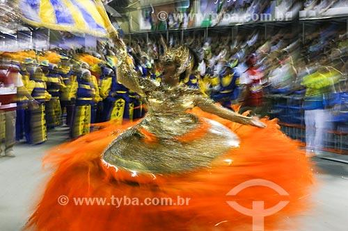 Desfile do Grêmio Recreativo Escola de Samba Unidos da Tijuca - Porta-Bandeira - Enredo 2015 - Um conto marcado no tempo: o olhar suíço de Clóvis Bornay  - Rio de Janeiro - Rio de Janeiro (RJ) - Brasil
