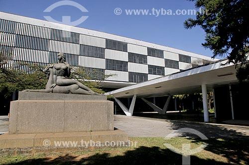 Fachada do Pavilhão Ciccillo Matarazzo - também conhecido como Pavilhão da Bienal  - São Paulo - São Paulo (SP) - Brasil