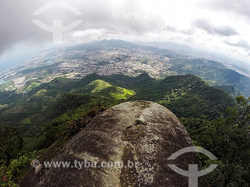 Vista do Parque Nacional da Tijuca a partir da  Pedra do Urubu  - Rio de Janeiro - Rio de Janeiro (RJ) - Brasil