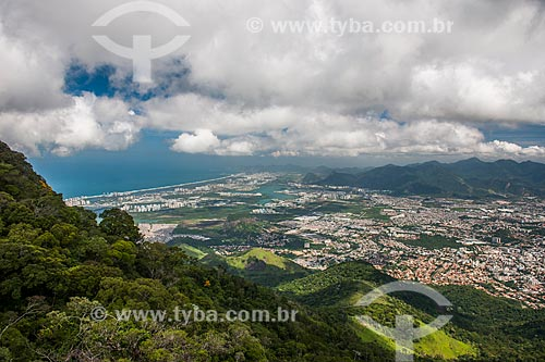 Vista da zona oeste a partir do Mirante da Serrilha do Papagaio  - Rio de Janeiro - Rio de Janeiro (RJ) - Brasil
