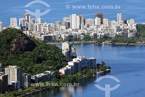 Morro do Sacopã com o bairro de Ipanema ao fundo  - Rio de Janeiro - Rio de Janeiro (RJ) - Brasil