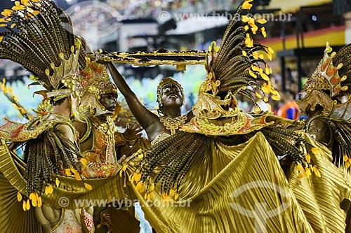 Desfile do Grêmio Recreativo Escola de Samba Império da Tijuca - Comissão de frente - Enredo 2015 - O Império nas águas doces de Oxum  - Rio de Janeiro - Rio de Janeiro (RJ) - Brasil
