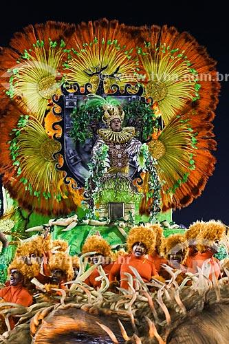 Desfile do Grêmio Recreativo Escola de Samba Estácio de Sá - Destaque de carro alegórico - Enredo 2015 - De braços abertos, de janeiro a janeiro, sorrio, sou Rio, sou Estácio de Sá!  - Rio de Janeiro - Rio de Janeiro (RJ) - Brasil