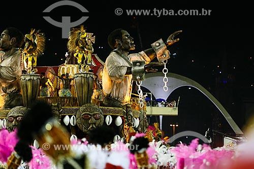 Desfile do Grêmio Recreativo Escola de Samba Estácio de Sá - Carro alegórico - Enredo 2015 - De braços abertos, de janeiro a janeiro, sorrio, sou Rio, sou Estácio de Sá!  - Rio de Janeiro - Rio de Janeiro (RJ) - Brasil