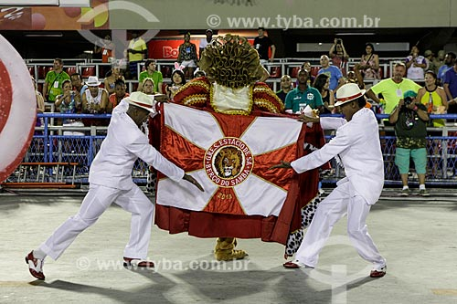 Desfile do Grêmio Recreativo Escola de Samba Estácio de Sá - Comissão de frente - Enredo 2015 - De braços abertos, de janeiro a janeiro, sorrio, sou Rio, sou Estácio de Sá!  - Rio de Janeiro - Rio de Janeiro (RJ) - Brasil