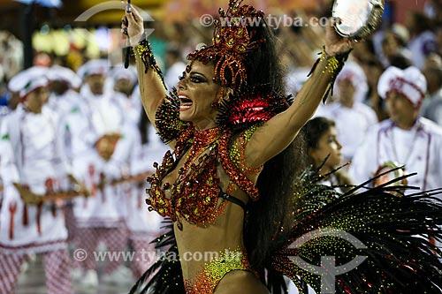 Desfile do Grêmio Recreativo Escola de Samba Acadêmicos do Salgueiro - Viviane Araújo - Rainha de Bateria  - Rio de Janeiro - Rio de Janeiro (RJ) - Brasil