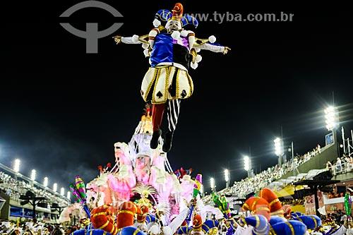 Desfile do Grêmio Recreativo Escola de Samba Acadêmicos do Grande Rio - Folião - Enredo 2015 - A Grande Rio é do baralho  - Rio de Janeiro - Rio de Janeiro (RJ) - Brasil