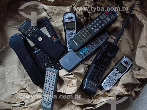 Telefones sem fio antigos  - Porto Alegre - Rio Grande do Sul (RS) - Brasil