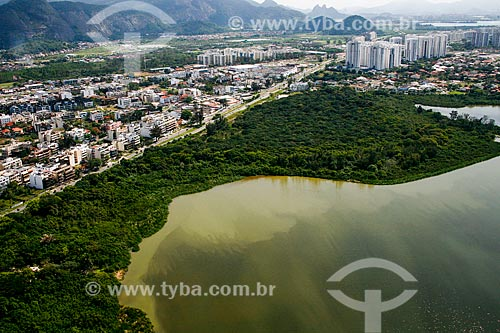 Foto aérea da Área de Proteção Ambiental de Marapendi  - Rio de Janeiro - Rio de Janeiro (RJ) - Brasil