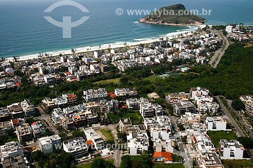 Foto aérea da orla da Praia do Recreio dos Bandeirantes  - Rio de Janeiro - Rio de Janeiro (RJ) - Brasil