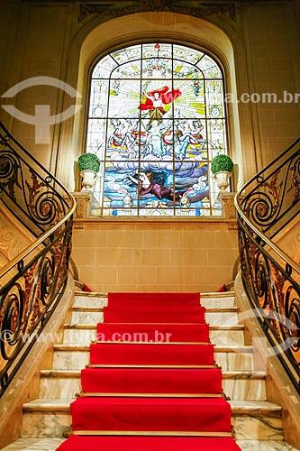 Escadaria no interior da Casa de Arte e Cultura Julieta de Serpa (1920)  - Rio de Janeiro - Rio de Janeiro (RJ) - Brasil