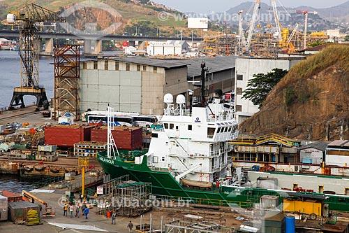 Navio no Estaleiro Mauá  - Niterói - Rio de Janeiro (RJ) - Brasil
