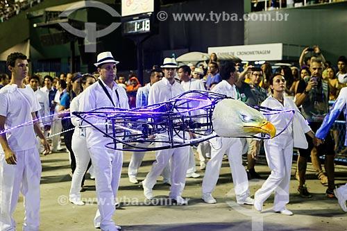 Drone em forma de águia durante o desfile do Grêmio Recreativo Escola de Samba Portela  - Rio de Janeiro - Rio de Janeiro (RJ) - Brasil