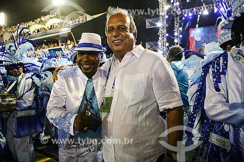 Governador do Rio de Janeiro Luiz Fernando de Souza - também conhecido como Pezão - durante o desfile do Grêmio Recreativo Escola de Samba Portela  - Rio de Janeiro - Rio de Janeiro (RJ) - Brasil