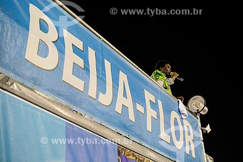 Desfile do Grêmio Recreativo Escola de Samba Beija-Flor de Nilópolis - Neguinho da Beija-Flor - intérprete do samba enredo  - Rio de Janeiro - Rio de Janeiro (RJ) - Brasil