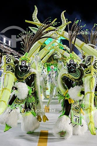 Desfile do Grêmio Recreativo Escola de Samba Imperatriz Leopoldinense - Foliões - Enredo 2015 - Axé-Nkenda: Um ritual de liberdade: e que a voz da liberdade seja sempre a nossa voz  - Rio de Janeiro - Rio de Janeiro (RJ) - Brasil