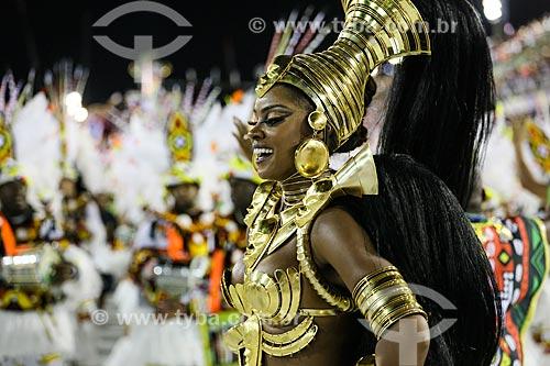 Desfile do Grêmio Recreativo Escola de Samba Imperatriz Leopoldinense - Atriz Cris Vianna  - Rainha de Bateria - Enredo 2015 - Axé-Nkenda: Um ritual de liberdade: e que a voz da liberdade seja sempre a nossa voz  - Rio de Janeiro - Rio de Janeiro (RJ) - Brasil