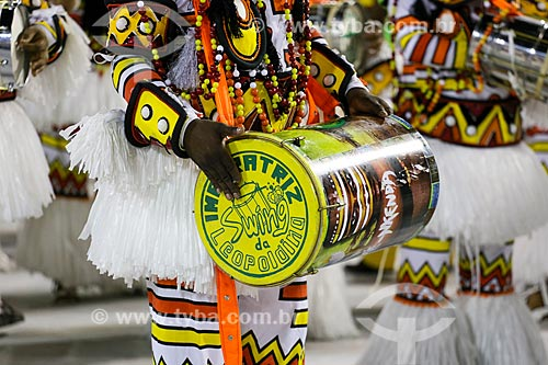 Desfile do Grêmio Recreativo Escola de Samba Imperatriz Leopoldinense - Bateria - Enredo 2015 - Axé-Nkenda: Um ritual de liberdade: e que a voz da liberdade seja sempre a nossa voz  - Rio de Janeiro - Rio de Janeiro (RJ) - Brasil