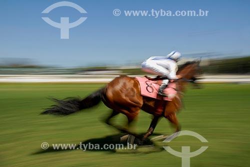Corrida de cavalos no Hipódromo da Gávea  - Rio de Janeiro - Rio de Janeiro (RJ) - Brasil