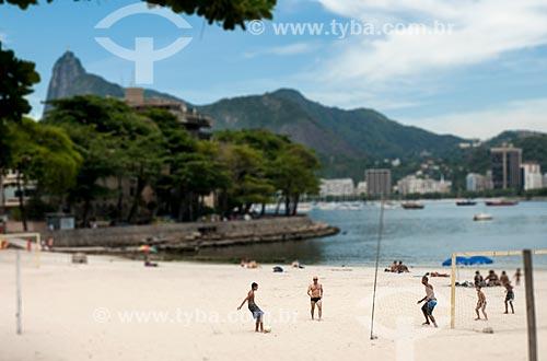 Futebol na areia na Praia da Urca  - Rio de Janeiro - Rio de Janeiro (RJ) - Brasil