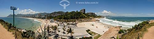 Praia do Arpoador e Praia de Ipanema com Morro Dois Irmãos e Pedra da Gávea ao fundo a esquerda - Praia do Diabo a direita  - Rio de Janeiro - Rio de Janeiro (RJ) - Brasil