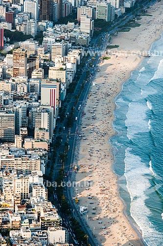 Vista da Praia do Leblon a partir do Morro Dois Irmãos  - Rio de Janeiro - Rio de Janeiro (RJ) - Brasil