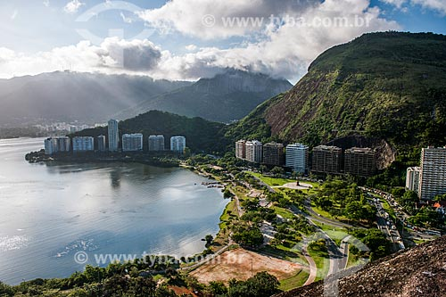 Vista do Parque do Cantagalo a partir da trilha do Morro do Cantagalo  - Rio de Janeiro - Rio de Janeiro (RJ) - Brasil