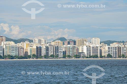 Praia de Icaraí vista a partir da Baía de Guanabara  - Niterói - Rio de Janeiro (RJ) - Brasil