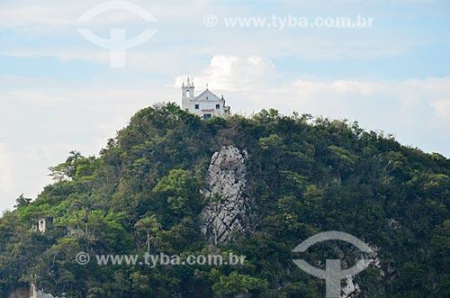 Vista da Capela de Nossa Senhora da Boa Viagem (Século XVIII) a partir da Baía de Guanabara  - Rio de Janeiro - Rio de Janeiro (RJ) - Brasil