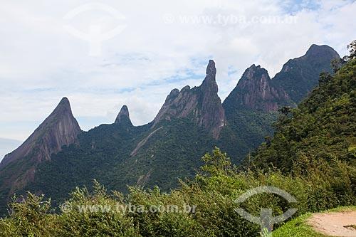 Vista do Pico do Dedo de Deus no Parque Nacional da Serra dos Órgãos  - Teresópolis - Rio de Janeiro (RJ) - Brasil