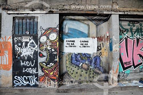Grafite na Avenida Gomes Freire  - Rio de Janeiro - Rio de Janeiro (RJ) - Brasil