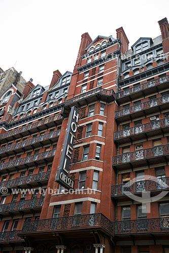 Hotel Chelsea (1884) - famoso por hospedar diversos escritores, músicos, artistas e atores  - Cidade de Nova Iorque - Nova Iorque - Estados Unidos