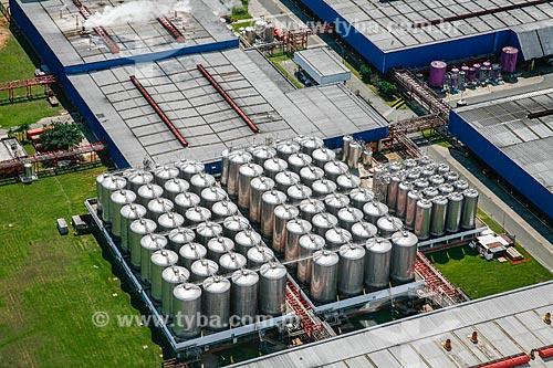 Foto aérea da fábrica da cervejaria Brahma  - Rio de Janeiro - Rio de Janeiro (RJ) - Brasil