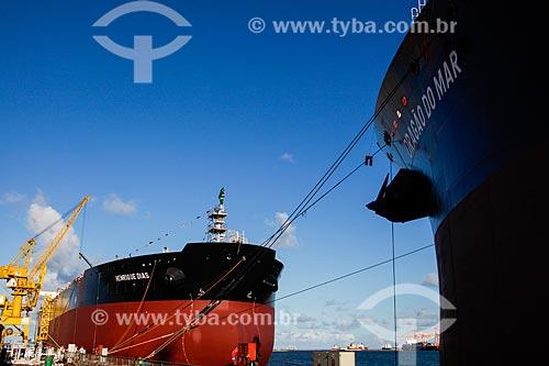 Navios petroleiros Henrique Dias e Dragão do Mar no Estaleiro Atlântico Sul  - Ipojuca - Pernambuco (PE) - Brasil