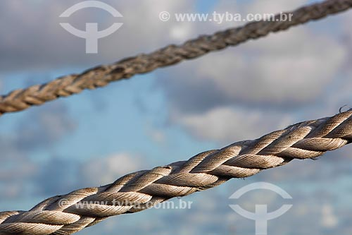 Detalhe de corda no Estaleiro Atlântico Sul  - Ipojuca - Pernambuco (PE) - Brasil