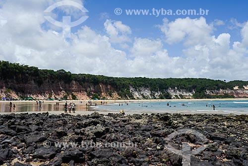Vista geral da Praia do Centro  - Tibau do Sul - Rio Grande do Norte (RN) - Brasil