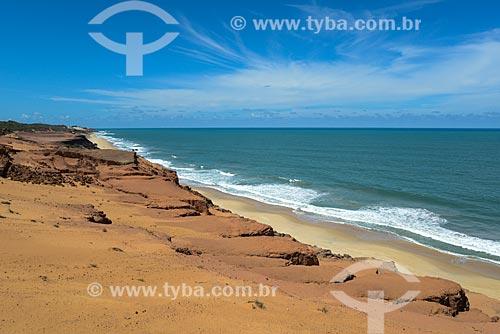 Vista da Praia de Pipa a partir do chapadão  - Tibau do Sul - Rio Grande do Norte (RN) - Brasil