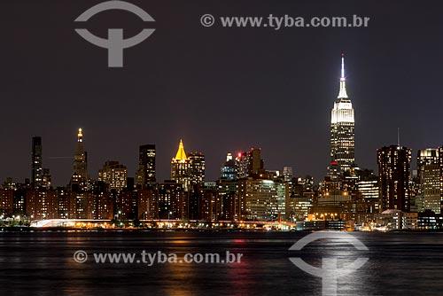 Vista de Manhattan a partir Williansburg  - Cidade de Nova Iorque - Nova Iorque - Estados Unidos
