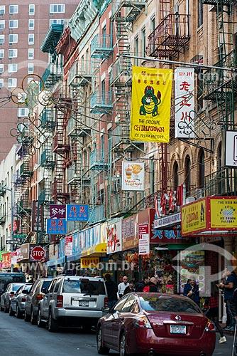 Rua comercial em Chinatown  - Cidade de Nova Iorque - Nova Iorque - Estados Unidos