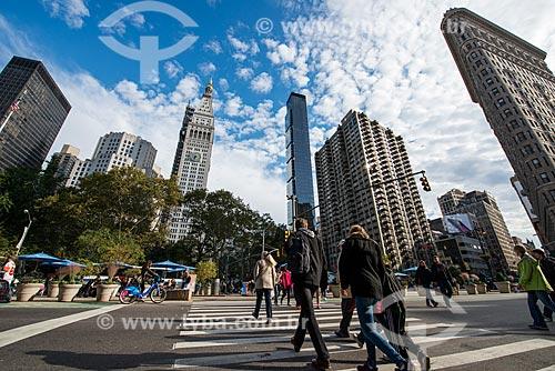 Prédios comerciais no distrito de Flatiron  - Cidade de Nova Iorque - Nova Iorque - Estados Unidos